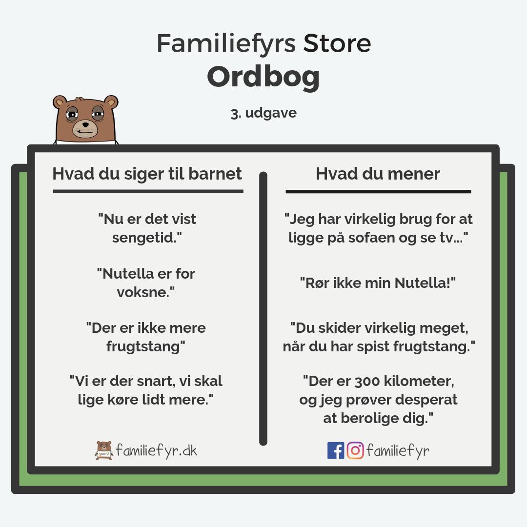 Familiefyrs Store Ordbog - 3. udgave