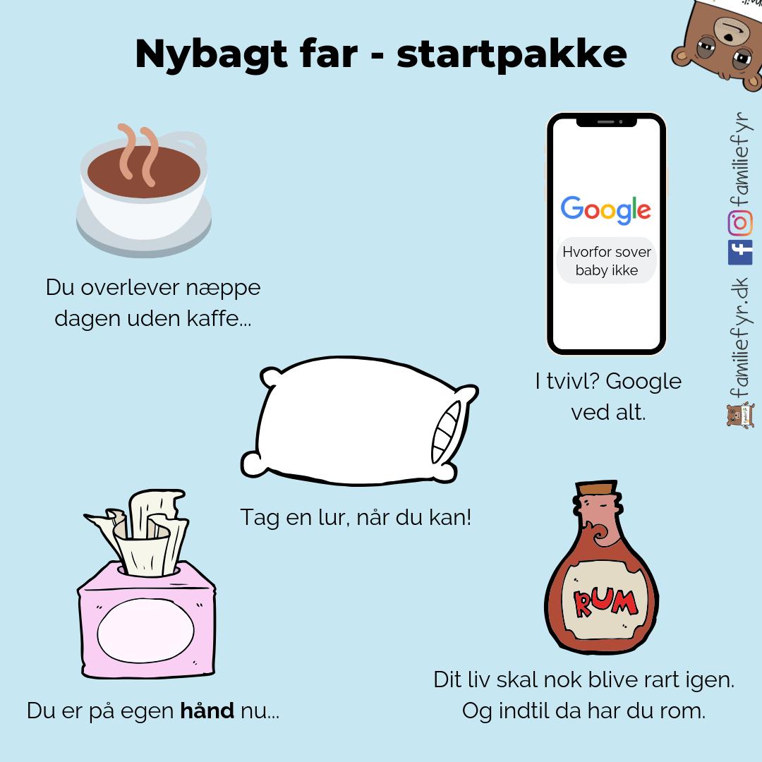 Nybagt far - startpakke